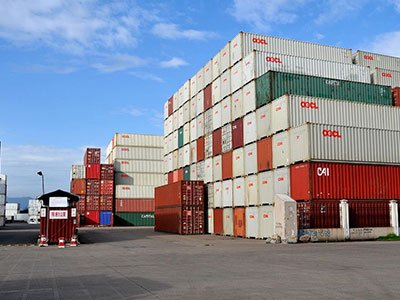 Container-freight-transport
