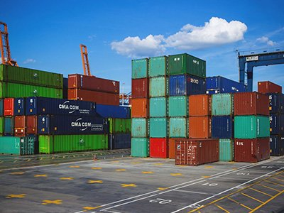 Port freight container