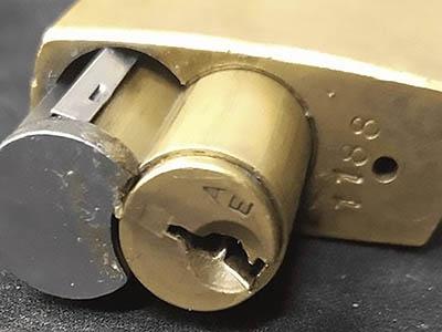 replce padlock lock core